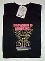 Browsing is Arousing (TM)  Black T-Shirt - Product Image