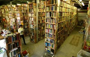 picture of over 100,000 books in our store