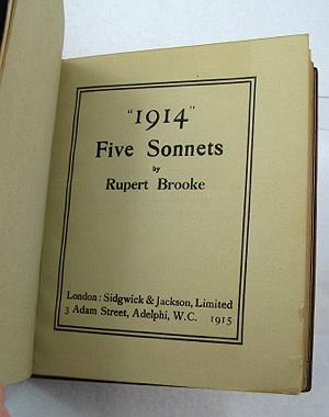 1914: Five SonnetsBrooke, Rupert - Product Image