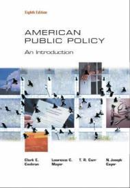 American Public Policy: An Introductionby: Cochran, Clarke E. - Product Image