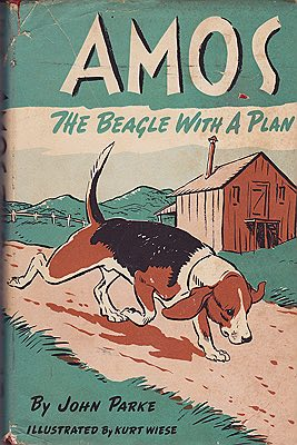 Amos: The Beagle With a Plan (SIGNED COPY)Parke, John, Illust. by: Kurt  Wiese - Product Image