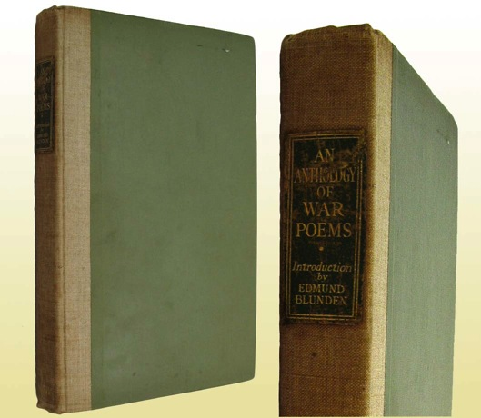 Anthology of War Poems, An (SIGNED COPY)by: Blunden (Introduction), Edmund - Product Image