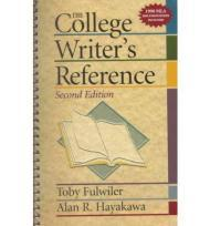 College Writer's Reference, Theby: Fulwiler, Toby - Product Image