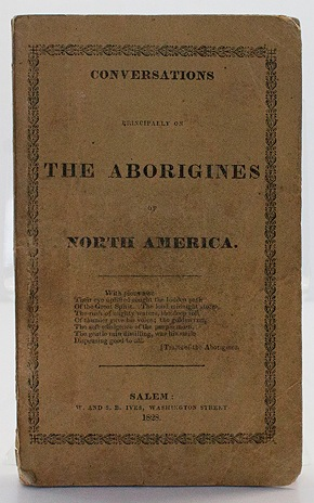 Conversations Principally on The Aborigines of North American/a - Product Image