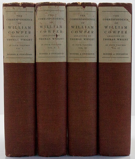 Correspondence of William Cowper, The - 4 VolumesWright, Thomas  - Product Image