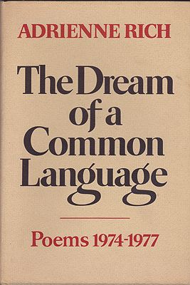 Dream of a Common Language, The: Poems 1974-1977Rich, Adrienne - Product Image