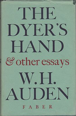 Dyer's Hand & Other Essays, TheAuden, W.H. - Product Image