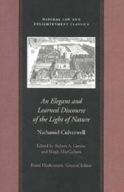 ELEGANT AND LEARNED DISCOURSE, ANby: CULVERWELL, NATHANIEL - Product Image