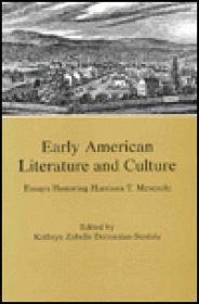 Early American Literature and Culture: Essays Honoring Harrison T. Meseroleby: Derounian-Stodola, Kathryn Zabelle (Editor) - Product Image