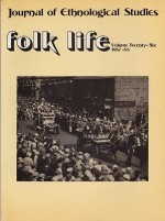 Folk Life: A Journal of Ethnological Studies: Volume Twenty-Sixby: Linnard (Ed.), William - Product Image