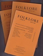 Folklore: Volume 79 1968 (4 issues)by: Folk-Lore Society - Product Image