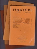Folklore: Volume 80 1969 (4 issues)by: Folk-Lore Society - Product Image