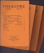 Folklore: Volume 82 1971 (4 issues)by: Folk-Lore Society - Product Image