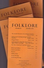 Folklore: Volume 85 1974 (4 issues)by: Folk-Lore Society - Product Image