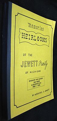 Heirlooms - A History and Genalogy of Thirteen Generations and the Third Dimention - 390 Years - 1585 to 1976 - Bicentennial IssueJewett, Herschel C. - Product Image