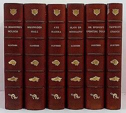 Hillingdon Hall; Hawbuck Grange; Mr. Sponge's Sporting Tour; Ask Mamma; Plain or Ringlets?; Mr. Romford's Hounds - 6 VolumesSurtees, Robert Smith - Product Image