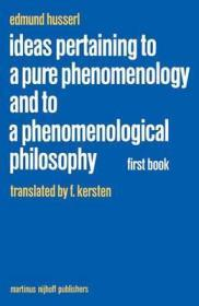 Ideas Pertaining to a Pure Phenomenology and to a Phenomenological Philosophy  First Bookby: Husserl, Edmund - Product Image