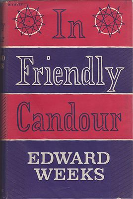 In Friendly CandourWeeks, Edward - Product Image