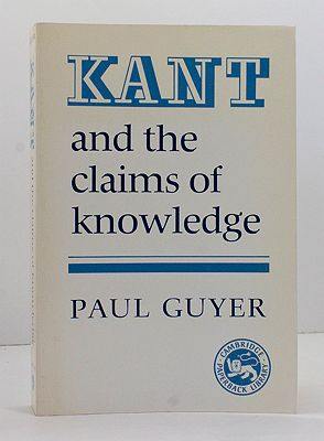 Kant and the Claims of KnowledgeGuyer, Paul - Product Image