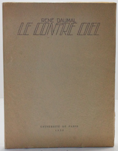 Le Contre Ciel. Lithographie Originale d'Etienne CournaultDaumal, Rene and Etienne Cournault - Product Image