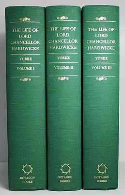 Life and Correspondence of Philip Yorke, Earl of Hardwicke, Lord High Chancellor of Great Britain, The (Three Volume Set)Yorke, M.A. Oxon., Philip C. - Product Image