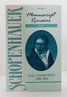 Manuscript Remains, Volume I: Early Manuscripts (1804-1818)Schopenhauer, Arthur - Product Image