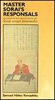 Master Sorai's Responsals: An Annotated Translation of Sorai Sensei TomonshoYamashita, Samuel Hideo - Product Image