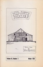 Mid-South Folklore - Special Issue for Vance Randolph: Volume 3, No. 3by: Randolph, Vance - Product Image