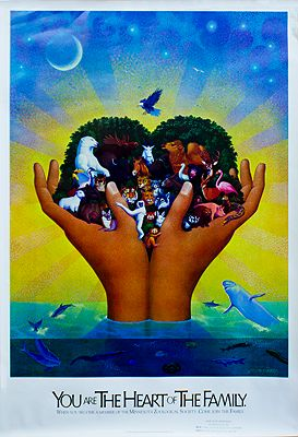 "Minnesota Zoological Society Poster (""You Are the Heart of the Family"")Punchatz, Don Ivan - Product Image"