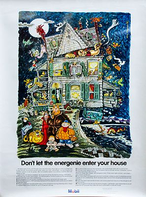 "Mobil Poster (""Don't Let the Energenie Enter Your House"")Meyerowitz, Rick , Illust. by: Rick  Meyerowtz - Product Image"