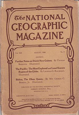 National Geographic Magazine  - August 1908  Vol. XIX No. 8National Geographic Society - Product Image