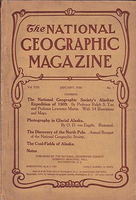 National Geographic Magazine  - January 1910  Vol. XXI No. 1National Geographic Society - Product Image