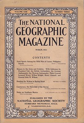 National Geographic Magazine  - Vol. XXII No. 3 March 1911National Geographic Society - Product Image