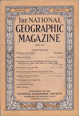 National Geographic Magazine  - Vol. XXII No. 4 April 1911National Geographic Society - Product Image