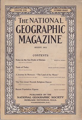 National Geographic Magazine  - Vol. XXII No. 8 August 1911National Geographic Society - Product Image