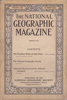 National Geographic Magazine  - Vol. XXIII  No. 3 March 1912National Geographic Society - Product Image