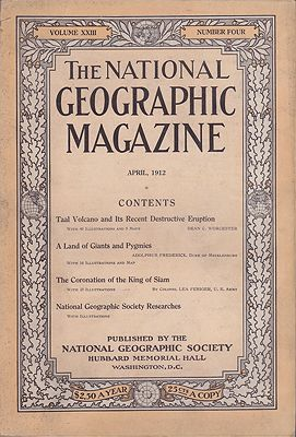 National Geographic Magazine  - Vol. XXIII  No. 4 April 1912National Geographic Society - Product Image