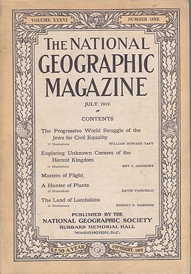 National Geographic Magazine  - Vol. XXXVI  No. 1 July 1919National Geographic Society - Product Image