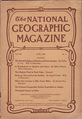 National Geographic Magazine - June 1909   Vol. XX No. 6National Geographic Society - Product Image