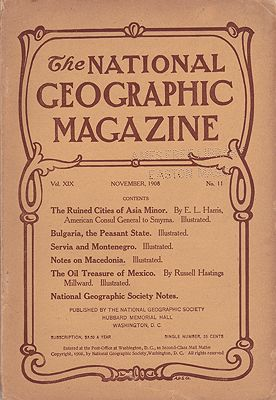 National Geographic Magazine - November 1908 Vol. XIX  No.11National Geographic Society - Product Image