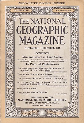 National Geographic Magazine - Vol. XXXII  No. 5 & 6 November - December 1917National Geographic Society - Product Image