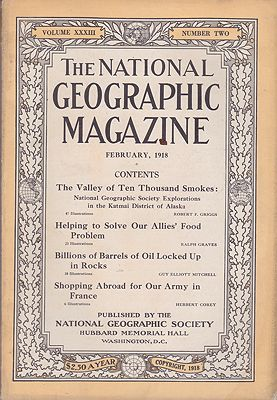 National Geographic Magazine - Vol. XXXIII  No. 2 February 1918National Geographic Society - Product Image