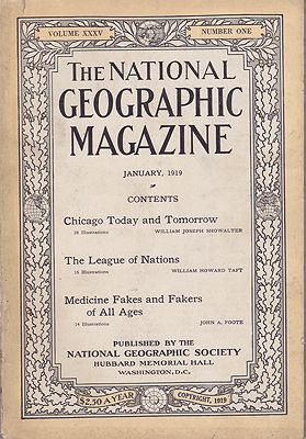 National Geographic Magazine - Vol. XXXV  No. 1 January 1919National Geographic Society - Product Image