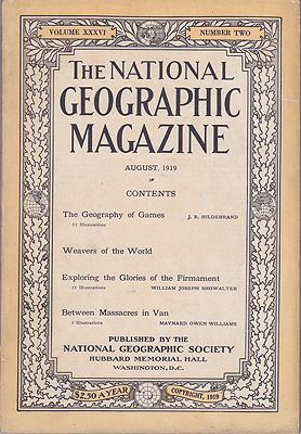 National Geographic Magazine - Vol. XXXVI  No. 2 August 1919National Geographic Society - Product Image