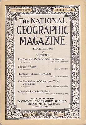 National Geographic Magazine - Vol. XXXVI  No. 3 September 1919National Geographic Society - Product Image