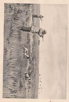 "ORIG B&W SPORTING PRINT/ ""PRAIRIE-CHICKEN SHOOTING""illustrator- A.B.  Frost - Product Image"