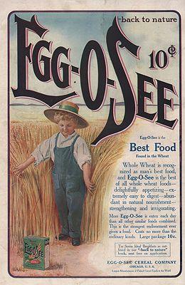 ORIG VINTAGE 1900s EGG-O-SEE CEREAL ADillustrator- N/A - Product Image