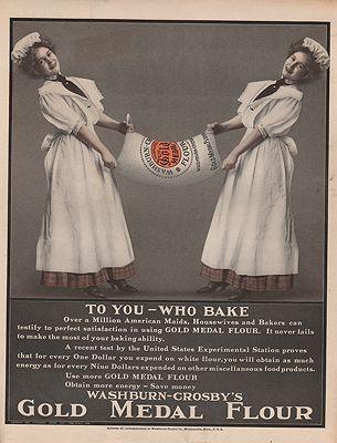 ORIG VINTAGE 1908 GOLD MEDAL FLOUR ADillustrator- N/A - Product Image