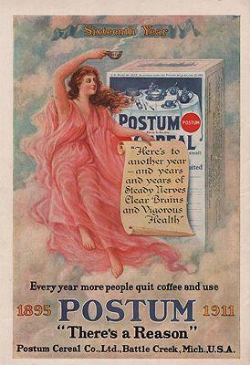 ORIG VINTAGE 1911 POSTUM ADillustrator- N/A - Product Image