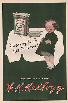 ORIG VINTAGE 1912 KELLOGG'S CORN FLAKES ADillustrator- N/A - Product Image